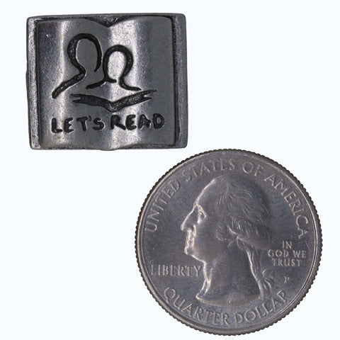 Let's Read Book Lapel Pin