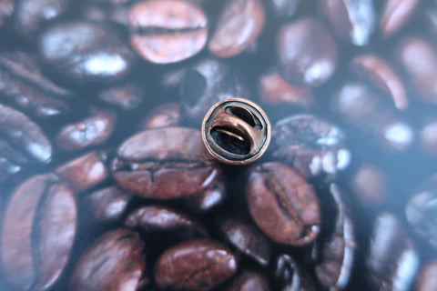 Coffee Bean Copper Lapel Pin
