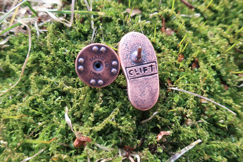 Hiking Boot Copper Lapel Pin