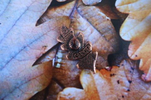 Oak Leaf Copper Lapel Pin
