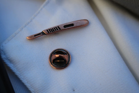 Scalpel Copper Lapel Pin
