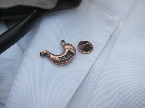 Stomach Copper Lapel Pin