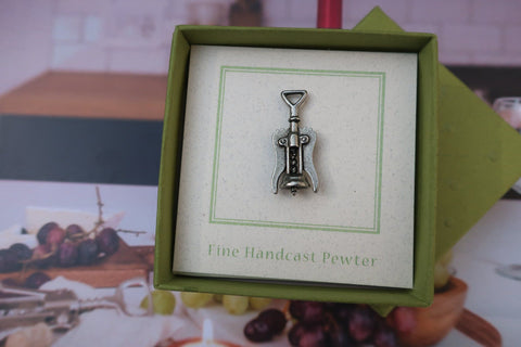 Corkscrew Lapel Pin