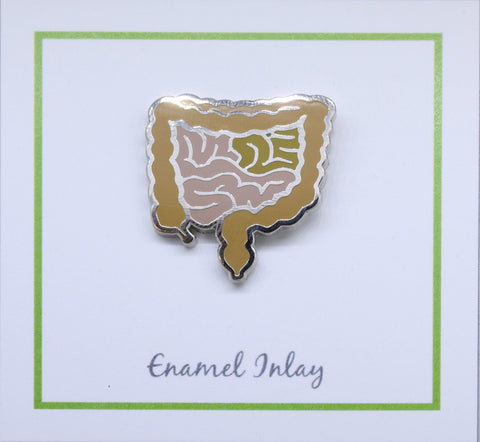 Intestines Enamel Pin