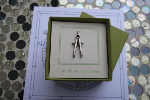 Engineering Compass Lapel Pin
