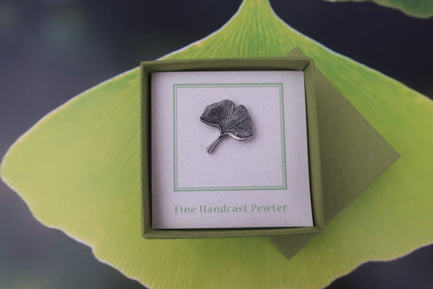 Ginkgo Leaf Lapel Pin