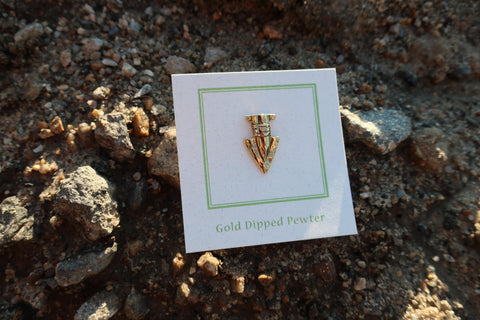 Arrowhead Gold Lapel Pin