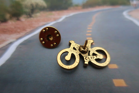 Bicycle Gold Lapel Pin