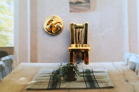 Chair Gold Lapel Pin