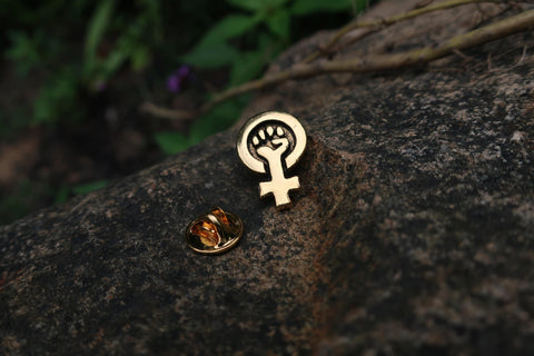 Votes for Women Gold Lapel Pin