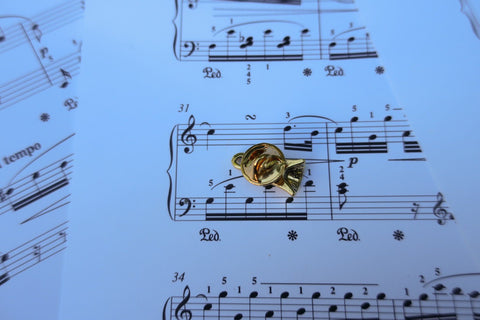 Handbell Gold Lapel Pin
