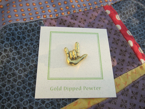 'I Love You' Gold Lapel Pin
