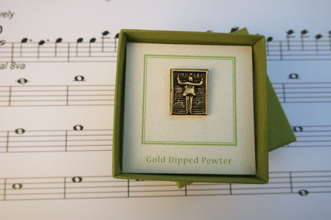 Music Conductor Gold Lapel Pin