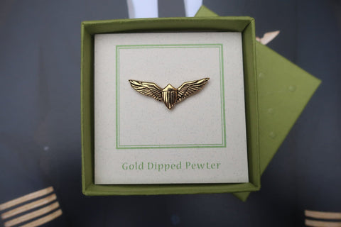 Pilot Wings Gold Lapel Pin