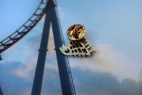 Roller Coaster Gold Lapel Pin