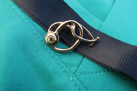 Stethoscope Gold Lapel Pin