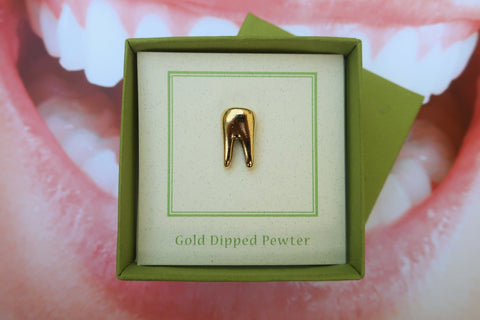 Tooth Gold Lapel Pin