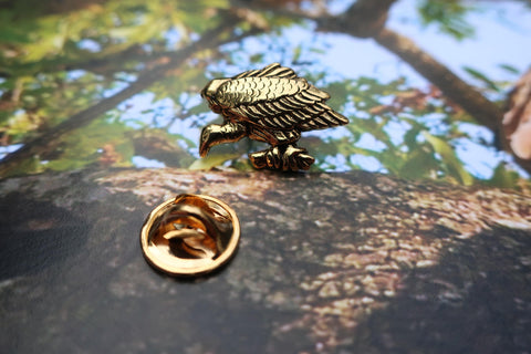 Vulture Gold Lapel Pin