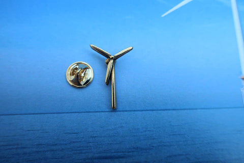 Wind Energy Gold Lapel Pin
