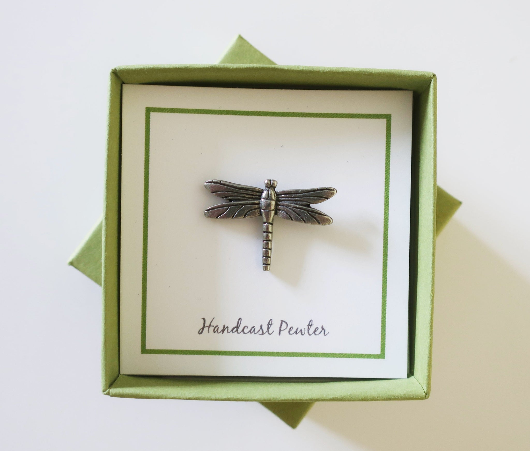 Sage Green Lapel Pin Gift Box
