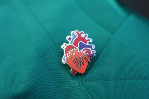 Human Heart Enamel Pin