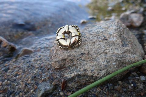 Life Preserver Gold Lapel Pin