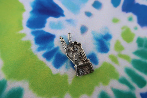 Peace Hand Sign Lapel Pin