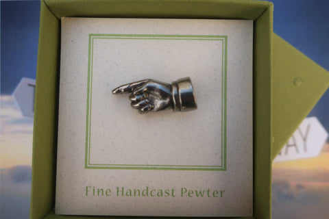 Pointing Finger Lapel Pin