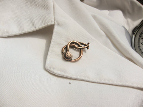 Stethoscope Copper Lapel Pin