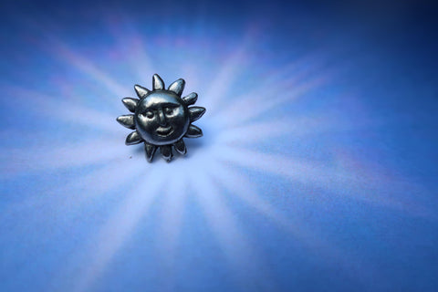 Small Sunface Lapel Pin