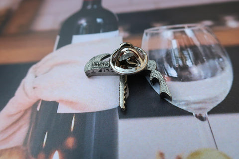 Waiters Corkscrew Lapel Pin