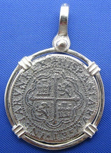 Load image into Gallery viewer, '2 Reale' Round Spanish Shipwreck Treasure Coin Replica Pendant