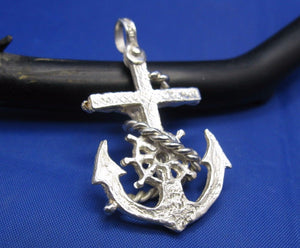 Sterling Silver Diver's Mariners Cross Pendant