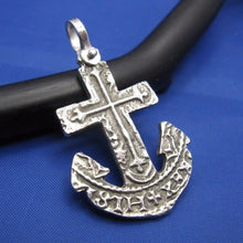 Load image into Gallery viewer, Sterling Silver Anchor Cut Out from Piece of 8 Pirate Shipwreck Coin