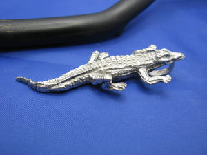Large Men's Sterling Silver Alligator Pendant with Realistic Detailing