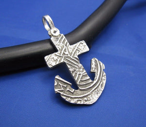 Sterling Silver Anchor Cut Out from Piece of 8 Pirate Shipwreck Coin