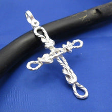 Load image into Gallery viewer, Sterling Silver Sailor's Knot Rope Cross Pendant