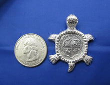 Load image into Gallery viewer, Sterling Silver Sea Turtle Pendant with Reproduction Shipwreck Cobb