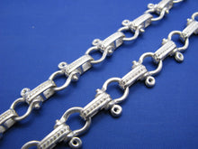 Load image into Gallery viewer, Sterling Silver 8mm Pirate Shackle Anchor Link Chain with Camouflage Latch