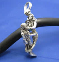 Load image into Gallery viewer, Sterling Silver Mermaid and Diver Lover Affair Necklace