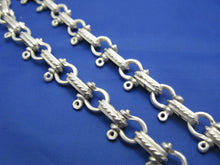 Load image into Gallery viewer, Sterling Silver 8mm Pirate Shackle Anchor Link Chain with Lobster Claw Swivel Latch