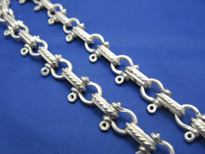 Sterling Silver 8mm Pirate Shackle Anchor Link Chain with Lobster Claw Swivel Latch