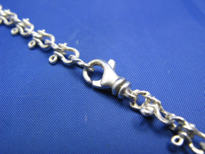 Sterling Silver 6mm Nautical Shackle Mariners Link Chain