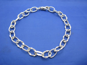 Sterling Silver Atocha Inspired Money Chain Bracelet 7.5mm with Swivel Clasp