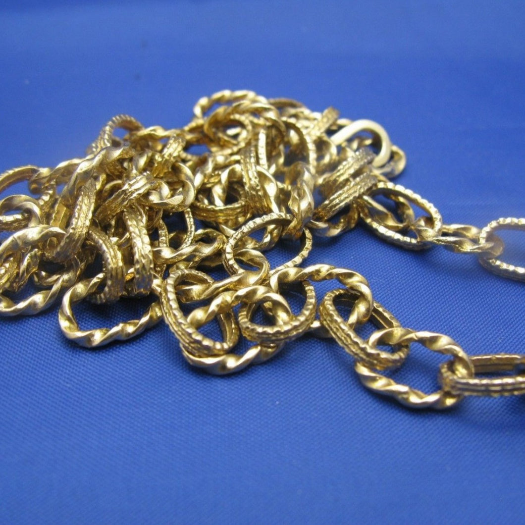 14k Gold Atocha Money Chain Artifact Inspired Rope Link Necklace