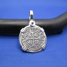 Load image into Gallery viewer, Sterling Silver Small Atocha Shipwreck Coin Replica