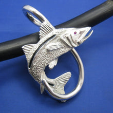 Load image into Gallery viewer, Extra Large Men's Snook & Fish Hook Nautical Pendant