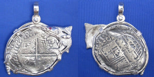 "Extra Large Pirate Piece of 8 Treasure Doubloon Replica in Custom Snook and Fishing Rod Bezel 2"" x 2"""