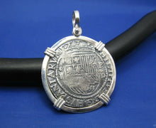Load image into Gallery viewer, '4 Reale' Large King Shield's Markings Replica Pendant Sterling Silver