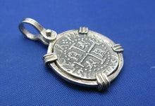 Load image into Gallery viewer, Sterling Silver Spanish Shipwreck Replica Coin Treasure Cobb Key West Pendant